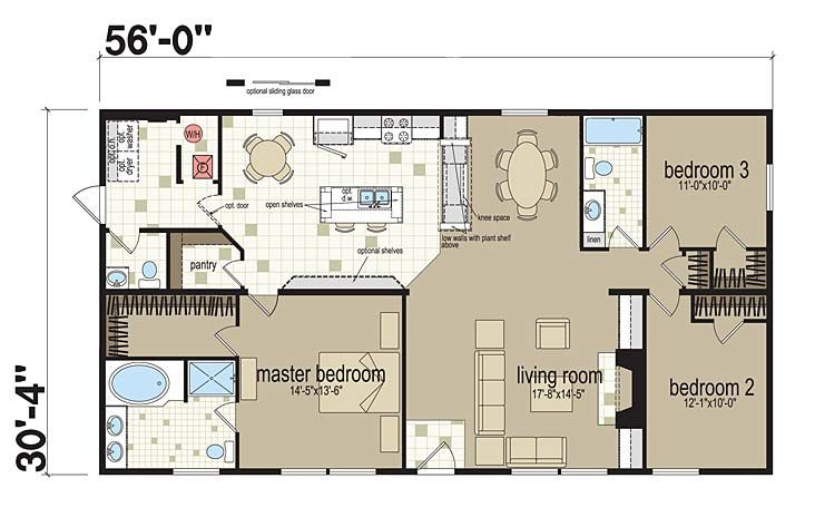 Floor Plans Roosevelt Co Ls 3260 301 Manufactured And
