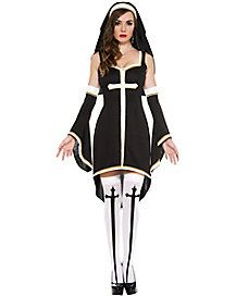 Adult Sinfully Hot Nun Costume