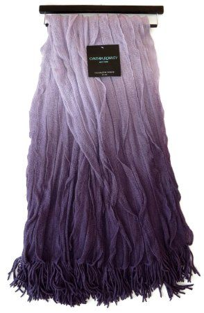 Amazon.com - Designer Throw Blanket Cynthia Rowley Ombre Waves of Purple From Pastel Lavender to Dark Lilac With Knit Fringe 50 x 60 Include...