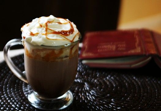 Salted Caramel Hot Chocolate  (Non-alcoholic) Copy Cat version of Starbucks Signature Drink (that they quit making :(