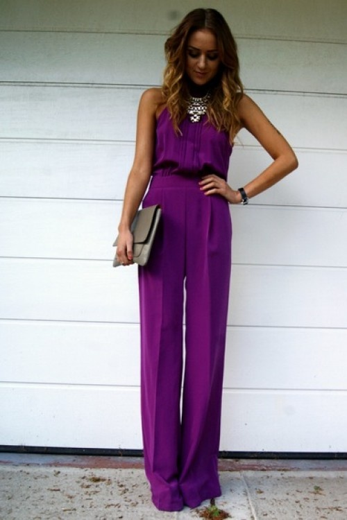 Purple Jumpsuit. I want one so nice for summer