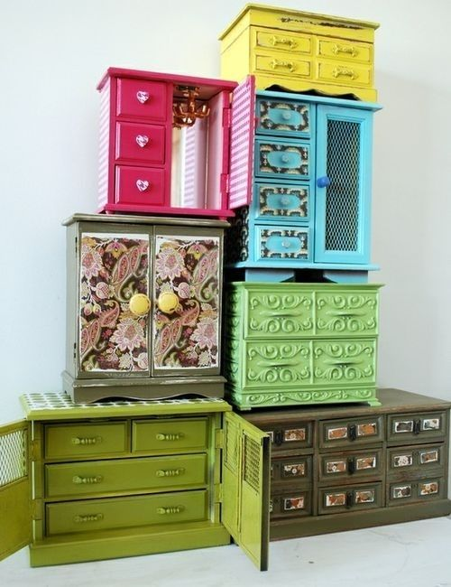 Jewelry Boxes Makeover....LOVE!!!