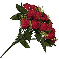 Silk Red Rose Flower Valentine's Day Gift Bouquet