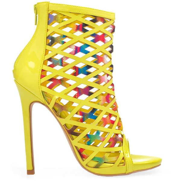 Privileged Women's Cassidy - Multi ($100) ❤ liked on Polyvore featuring shoes, multicolor shoes, colorful high heel shoes, yellow high heel shoes, privileged shoes and synthetic shoes