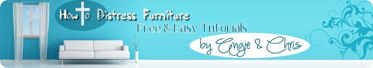 How To Distress Furniture | Distressed Furniture Tutorials