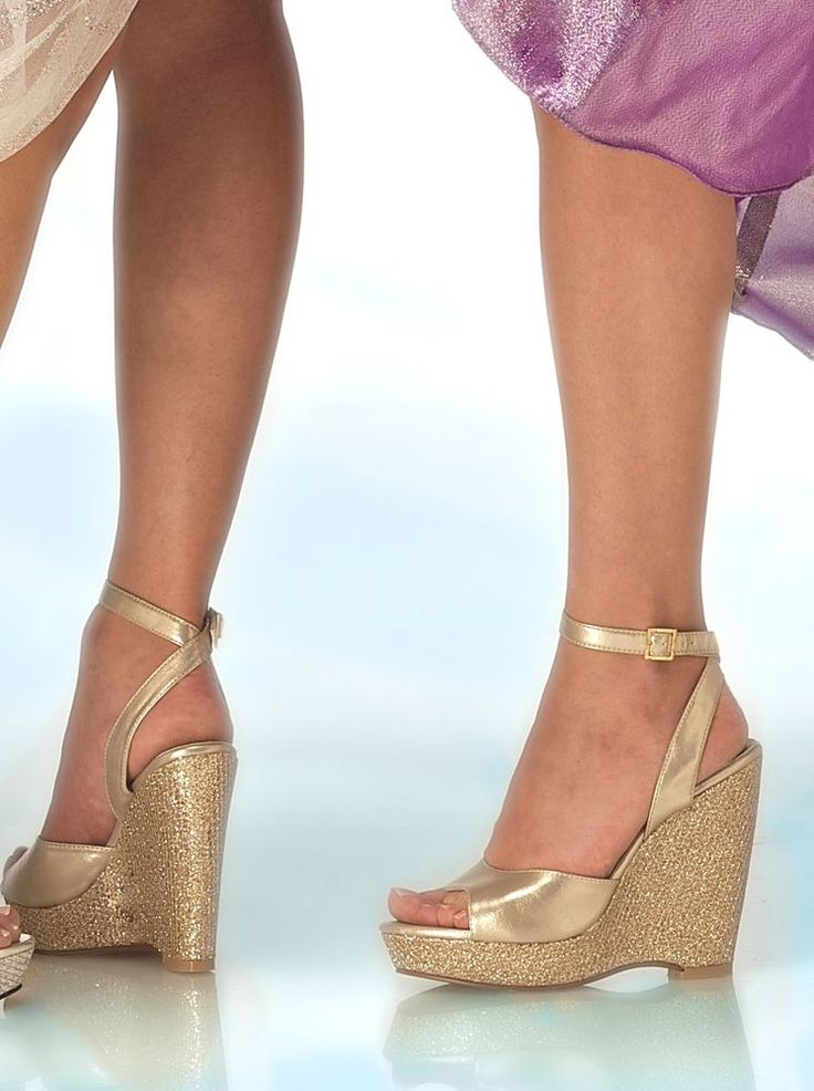 1000  ideas about Gold Wedge Shoes on Pinterest | Low wedge ...
