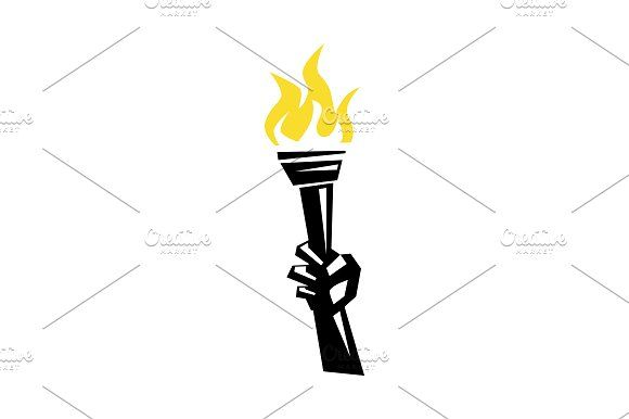 Hand holding a torch by SuperAccurate on @creativemarket