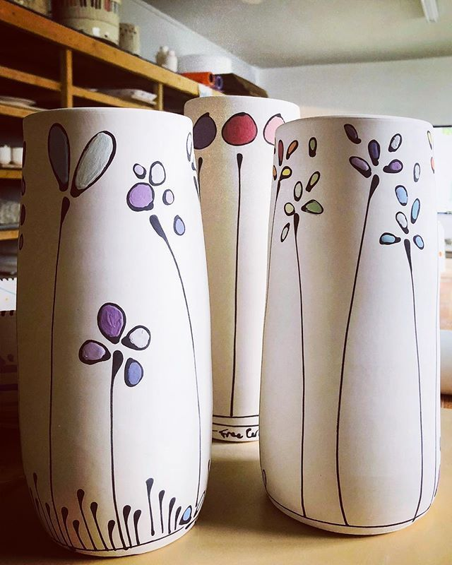 19 Astounding Fall Vases Decor Ideas Pottery Painting Designs