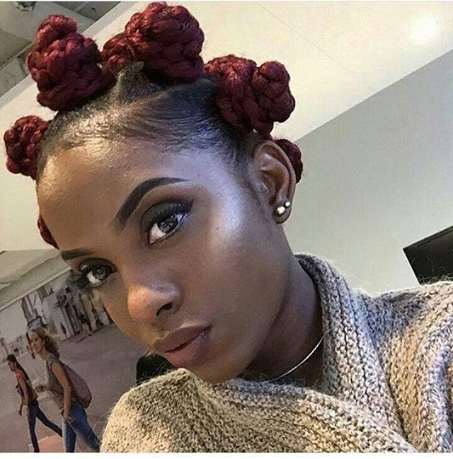 Love these bantu knots on beautiful @onini_mua  ➖➖➖➖➖➖➖➖➖➖➖➖➖➖➖➖➖➖➖Follow our backup @nigerianbraidshair