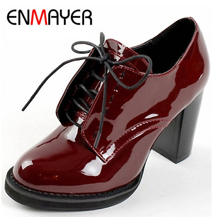 ENMAYER Fashion Women's Ankle Boots Lace-Up Platform Women Boots for Women Wedding Shoes High Heels Motorcycle Boots Shoes Woman * AliExpress Affiliate's Pin. Click the image to visit the AliExpress website
