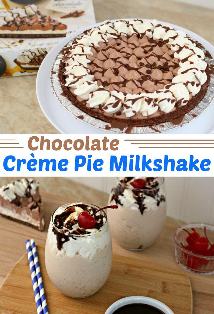 msg 4 21+ - Chocolate Crème Pie Milkshake! Make this EASY chocolate crème pie milkshake with just a few ingredients! See all the ingredients and make your own now! #SameTasteNewLook   ad