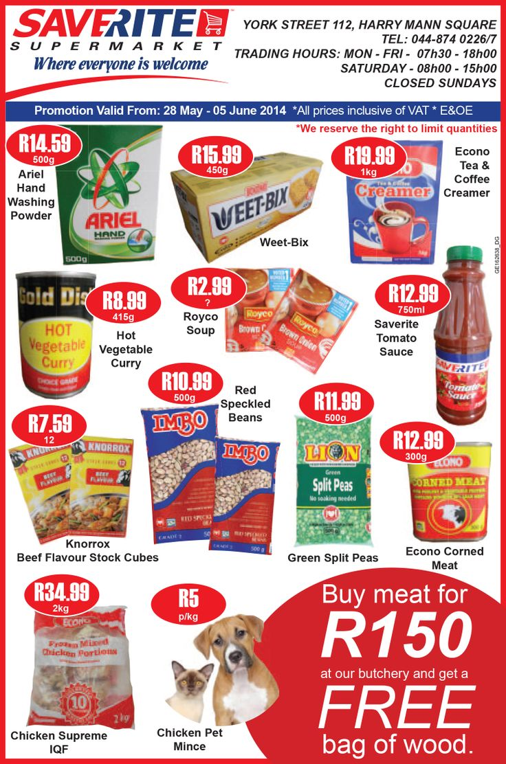 Saverite Supermarket brings you our May month end specials. #supermarket #groceries