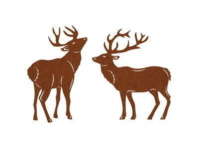 Sehr schöne Hirsche, aus braunem Filz. Zum Gestalten von Taschen, Karten oder als Streudeko.