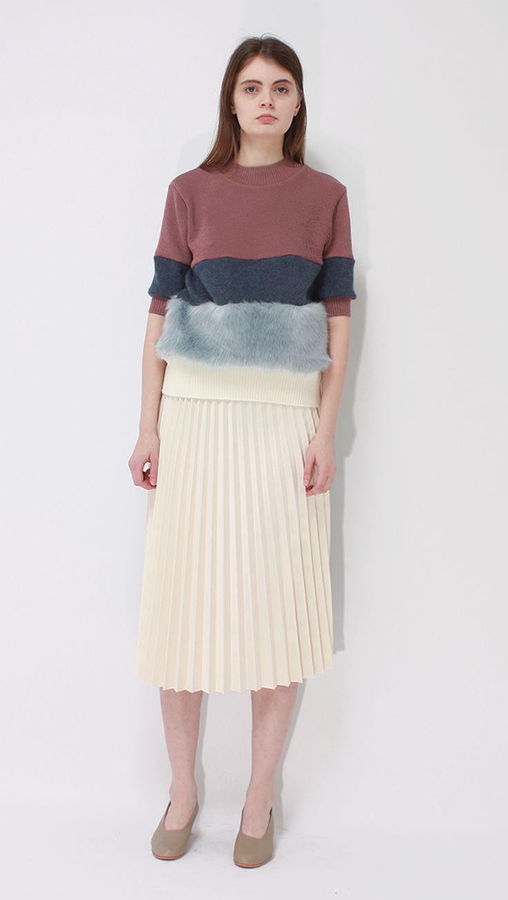 Pastel blue fur sweater