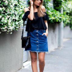 #EsTendencia Faldas con botones para el otoño