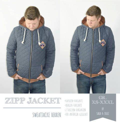 EBOOK ZIPP JACKET SWEATJACKE HERREN GR. XS-XXXL bei Makerist