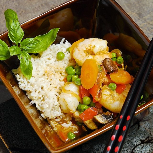 ... and easy to make--great quick dinner Thai Shrimp Curry from Oui, Chef