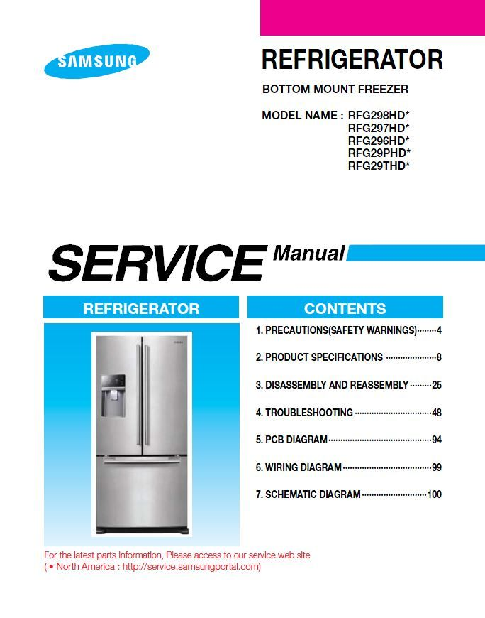 Samsung Rfg298hdrs Rfg298hdwp Rfg298hdbp Service Manual Troubleshooting Guide Repair Manuals Repair Guide Appliance Repair Shop