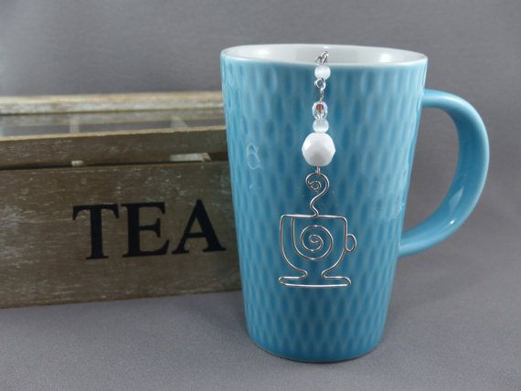 Tea Bag Steeper Tea Bag Clip with Silver Wire by WireExpressions
