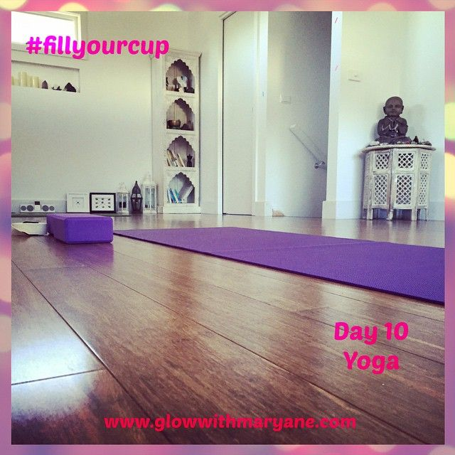 """Day 10 of the 21 Day #fillyourcup Challenge!  We're almost halfway into the challenge! Woohoo!!! How full is your cup?  Today is yoga day #everydayisyogaday Yoga has so so so many benefits, but I'll be brief and tell you what it does for me.  Yoga gives me strength. It strengthens my body, my mind and my spirit. It helps me work through and let go of #stuff So Much Stuff. It helps restore order in my world, on all levels.  What about you? What does yoga do for you?  #takecareofyou #selfcare…"