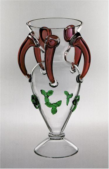 Váza zdobené sklo • Bořek Šípek CZ.