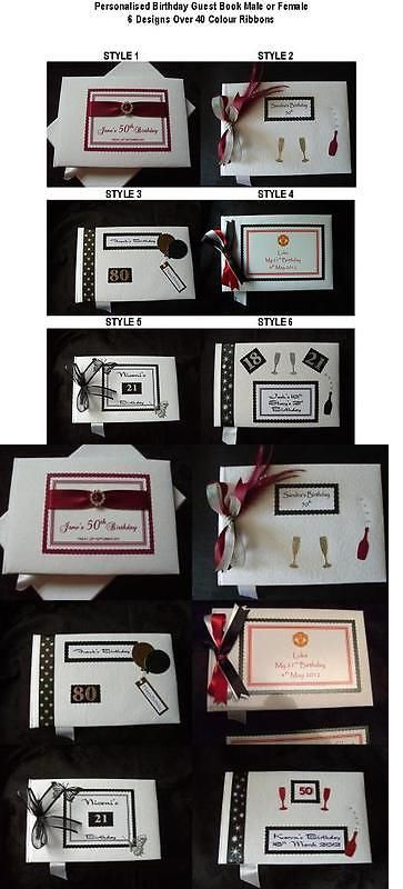 Guest Books 108383: Personalised Birthday Guest Book Male Or Female 6 Designs Over 40 Colour Ribbons -> BUY IT NOW ONLY: $22.99 on eBay!