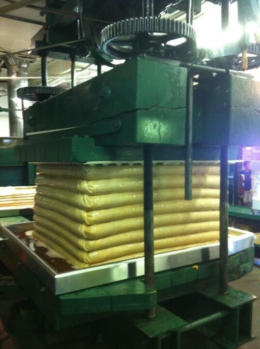 Got cider? Yates does.. Hydro-powered apple press at Yates Cider Mill of Rochester Hills..