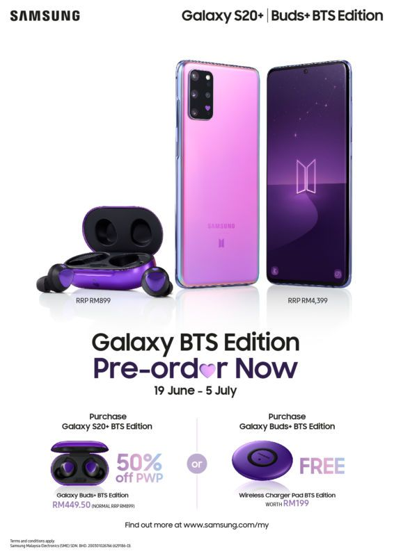 Samsung Introduces Purple Galaxy S20 And Galaxy Buds For Bts Fans In 2020 Bts Samsung Galaxy