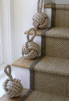 I guess it seems obvious that I would want to carpet my stairs after my awful fall this winter, but for some reason I can't help but wonder if this would be a bit more dangerous. What if the fabric makes it more tricky or the kids trip up the stairs? This also may seem…