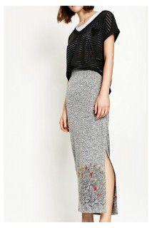 Desigual šedá dlouhá sukně Luca - 1539 Kč