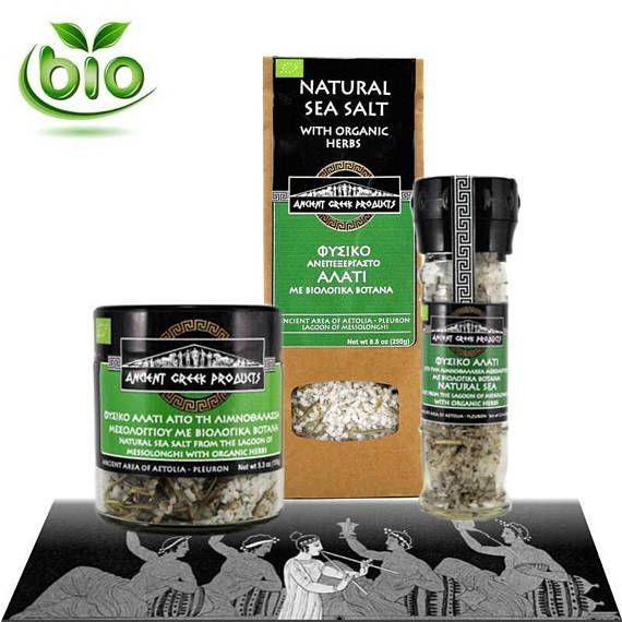 Natural sea salt of Messolonghi & Oregano Thyme Rosemary.