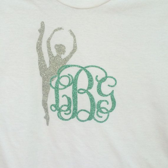Short Sleeve Glitter Monogram T shirt Comfort by PoshPrincessBows1, $26.99