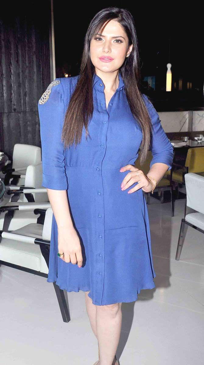 Zarine Khan at the unveiling of Karan Johar's limited edition jewellery line for Gehna Jewellers.