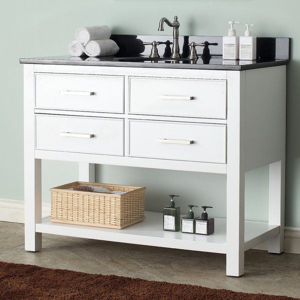 Style, function and versatility, this vanity combo will be the cornerstone of your bathroom, providing ample storage within its soft-close drawers and open-shelf base. Featuring clean lines, this collection embraces a transitional aesthetic that is timeless and pure. The combo includes a durable top and oval white vitreous china sink.