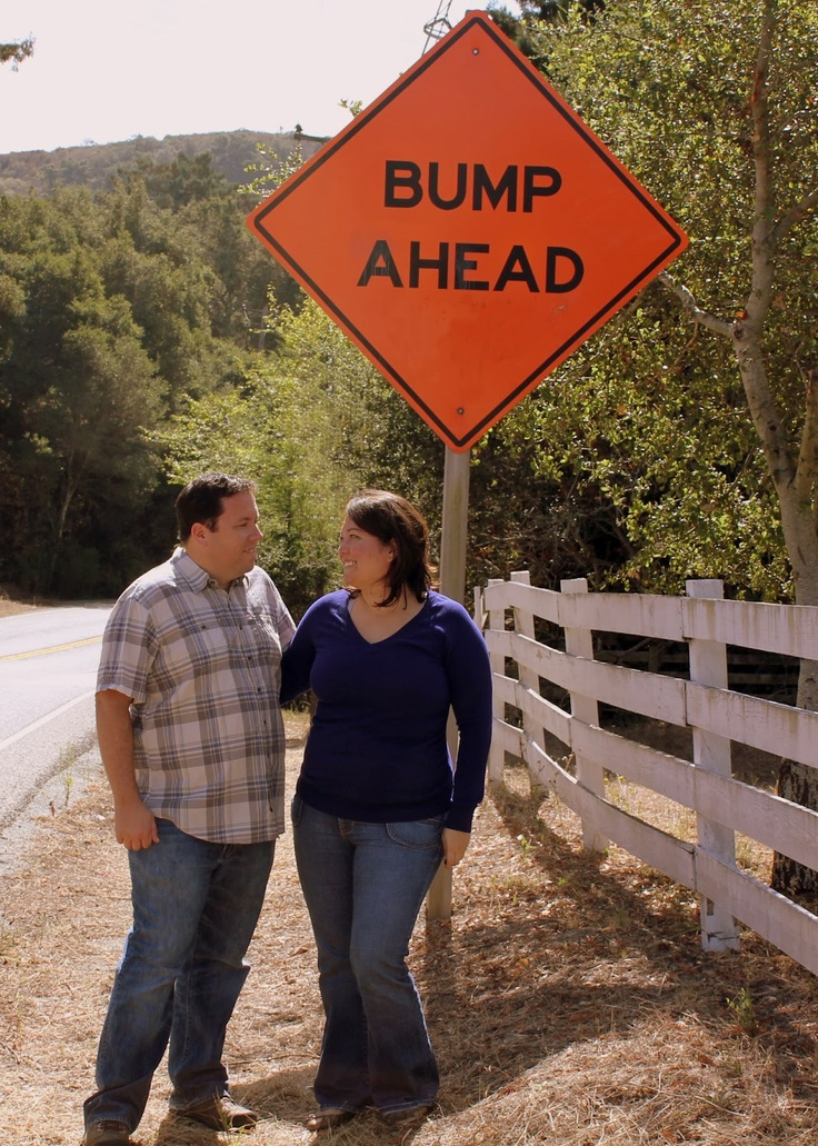 pregnancy announcement, bump ahead