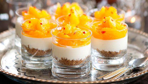 Krämig pepparkakscheesecake med mandarin