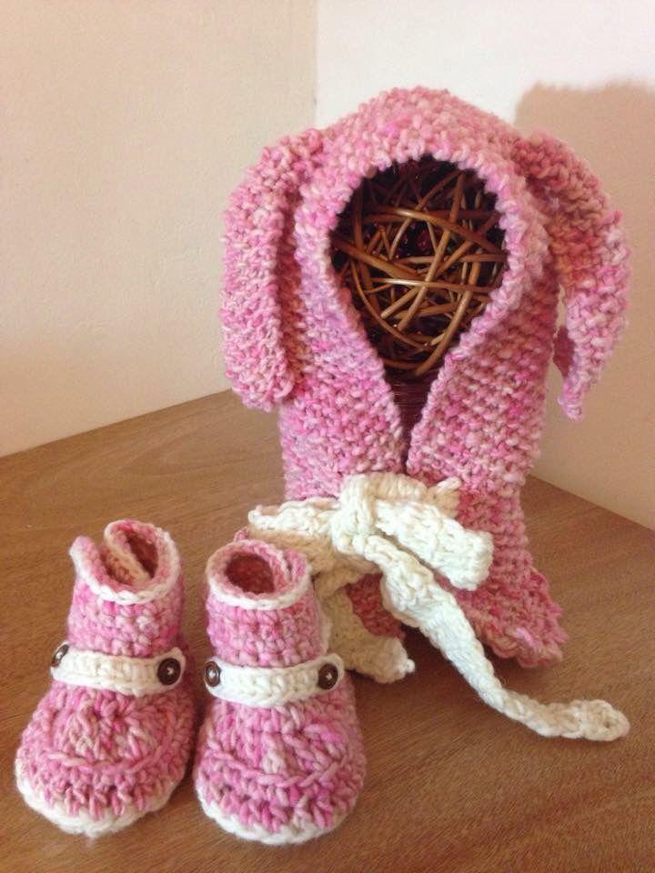 Gorro y Zapatos en lana de oveja Chile, taller Alun en Facebook