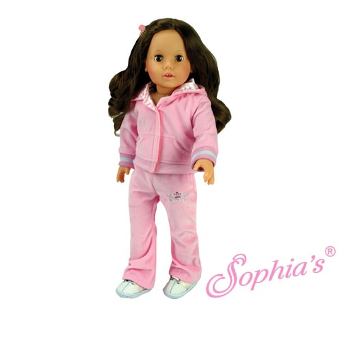Light Pink Velour SweatsuitVelour Sweatsuit, Lights Pink, Trav'Lin Lights, Girls Dolls, Amercan Girls, Pink Velour