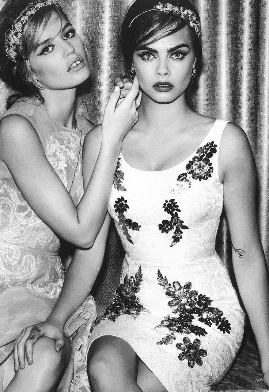 Vogue UK. Elara Headdress II & Chrysolite Headdress. Jenny Packham