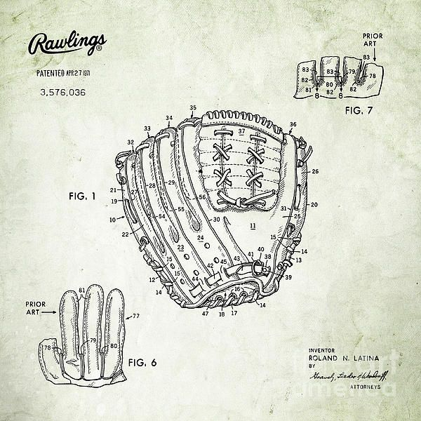 14 best blueprints images on pinterest boy room boy rooms and 1971 baseball glove square patent art in black on parchment united states patent awarded to malvernweather Gallery