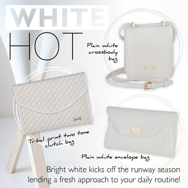 WHITE HOT! Highlight your daily outfit with white and minimal options!