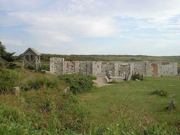 Marup kirke remains including graveyard