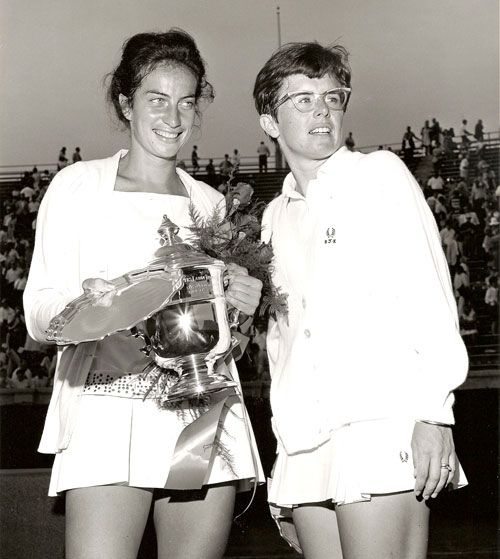 Virginia Wade and Billy Jean King