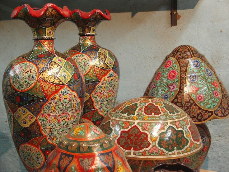Beautiful Hand Painted Camel Skin Vases And Lamps Famous