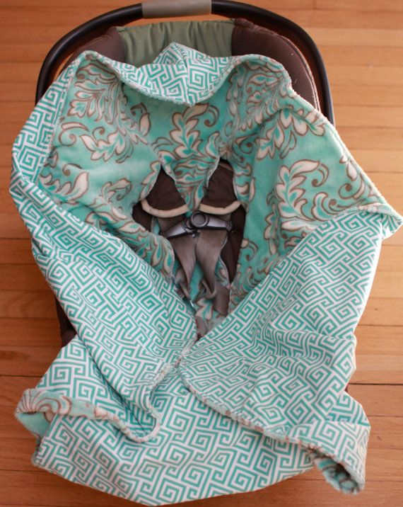 hooded infant car seat blanket minky car seats by and on. Black Bedroom Furniture Sets. Home Design Ideas