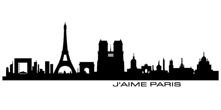 RaumTattoo - Online Shop für Wandtattoos, Wandtexte, Wandsticker. Das flexibelste Angebot bei Grössen und Farben. - Paris, silhouette, skyline Paris, city Paris, town Paris, Walltattoo Paris, J'AIME PARIS, Wallsticker Paris