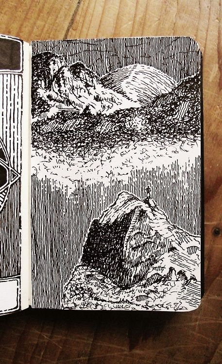 Amazing Moleskine Sketch| where one stroke of a pen can transform your world....