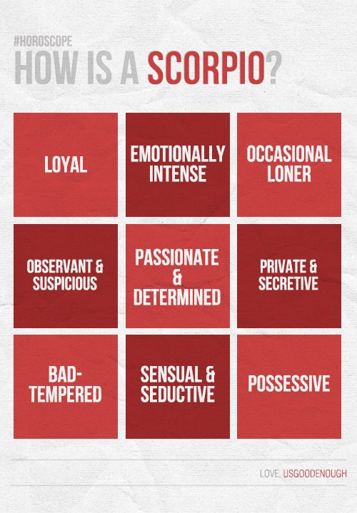 Scorpio - personality traits