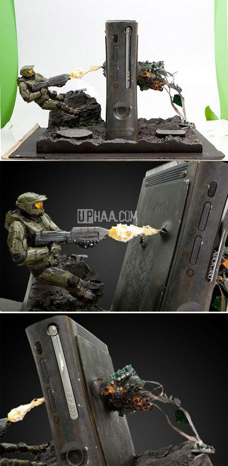 My son would love something like this. One Of The Best Halo Modded Xbox 360s