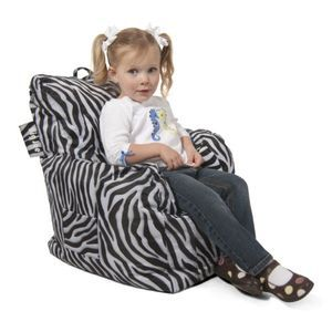 Big Joe Cuddle Chair, Zebra